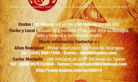Seminario de Kyusho Nicaragua 2014